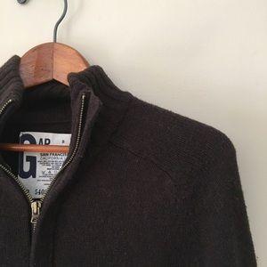 GAP Chocolate Brown Zip Up Sweater Cardi Coat